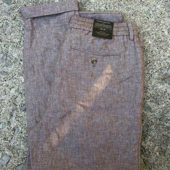 NWT Banana Republic Brown tweed Trousers
